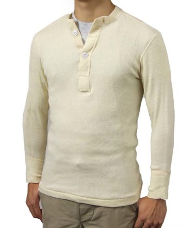 【ベッカムヘンリーネックシャツ】超希少な米軍放出品ヴィンテージヘンリーネックシャツ!コーデも紹介!