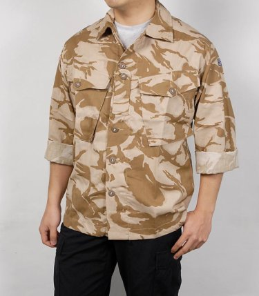 【イギリス軍ファティーグシャツ】独特の砂漠用迷彩柄を使用した春夏秋にオススメのジャングルシャツジャケット!