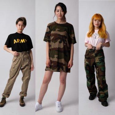 【レディース編まとめ】ミリタリーTシャツを使った女性にオススメなミリタリーコーデ!