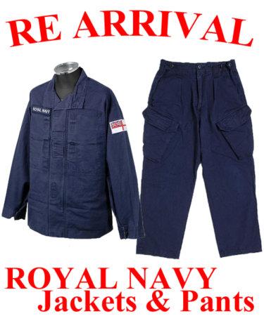 """★待望の再入荷決定★大大大人気のイギリス軍""""ROYAL NAVY""""パンツとジャケットが9月中に入荷予定!"""