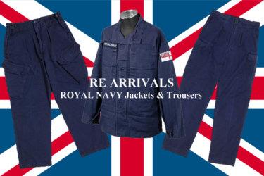 """【お待たせしました】遂に""""ROYAL NAVY""""パンツとジャケット再入荷!フランス軍M64も!"""